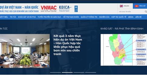 Dự án Việt Nam – Hàn quốc hợp tác khắc phục hậu quả bom mìn sau chiến tranh (KVMAP)