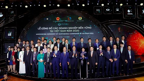 Lễ công bố 100 Doanh nghiệp bền vững tại Việt Nam 2020