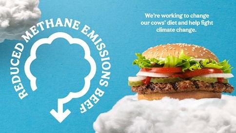 Chiến dịch mới của Burger King: Giúp bò xì hơi ít hơn!