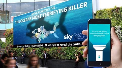 Chiến dịch quảng cáo OOH bảo vệ môi trường biển của tổ chức WCRS & Sky Ocean