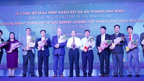 Công bố Giấy phép khảo sát dự án Thanglong Wind