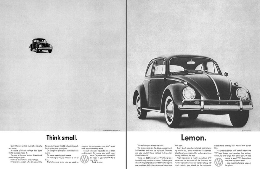 """Câu chuyện sáng tạo của agency đứng sau Volkswagen trong chiến dịch quảng cáo """"Think Small"""""""
