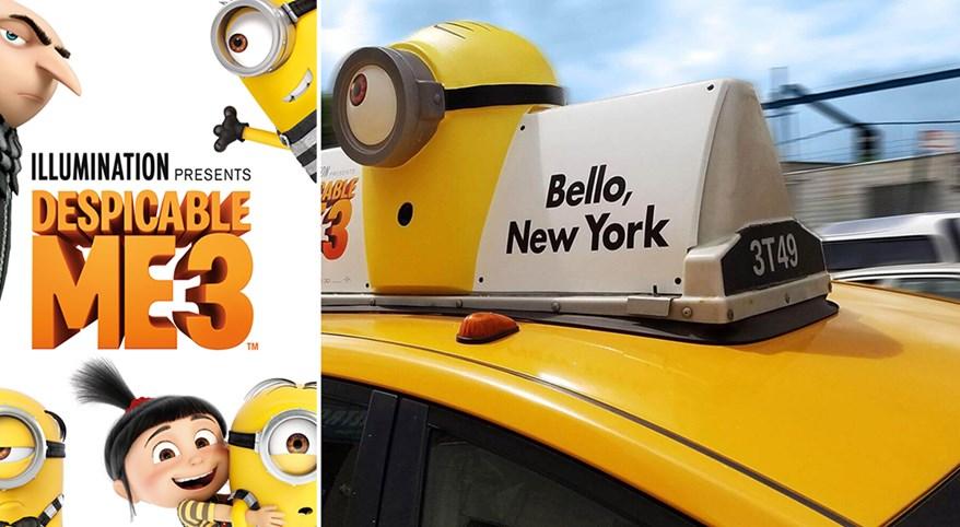 Chiến dịch quảng cáo Taxi đầy táo bạo và ấn tượng của Despicable Me 3 tại New York